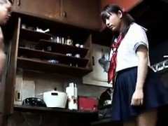 Japanese Schoolgirl Blowing...